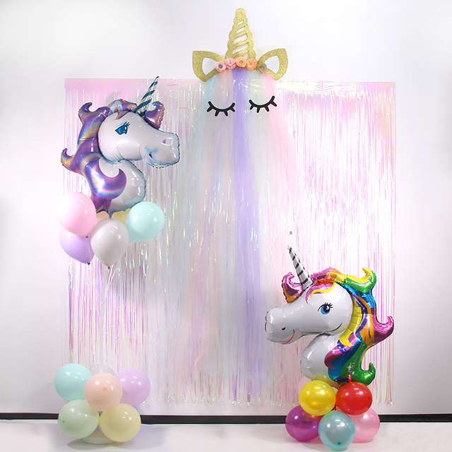 WEIGAO Unicorn Birthday Party Decorations Kids Cartoon Horse Disposable Tableware Sets 1st Birthday Paper Cup/Hat/Napkins Favors 3