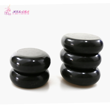 HIMABM 9.3*7.3*2.7cm 5PCS/ Pack Natrual Hot Spa Black Basalt Stone Massage Essential Oil Massage Stone Volcanic Energy Stone SPA