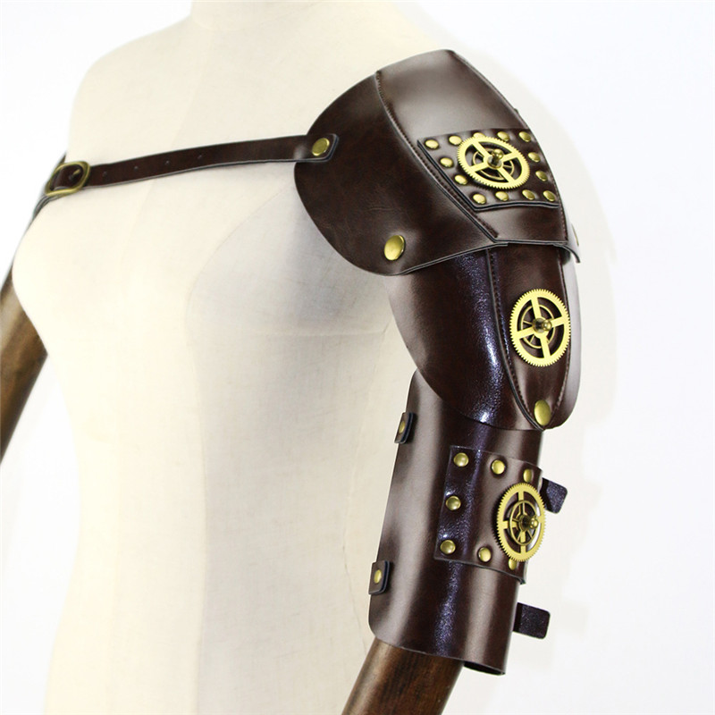 Аксессуары для косплея в стиле стимпанк, медные зубчатые колеса с рукавом Манипулятором