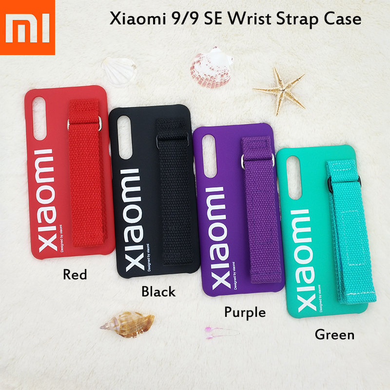 Original Xiaomi 9 SE New Street Style Protection Back Shell Case For Mi9 Mi 9 SE Multi Purpose Bracket Wrist Strap Phone Cover-in Fitted Cases from Cellphones & Telecommunications