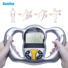 Monitor zdrowia ciała cyfrowy analizator tłuszczu LCD BMI miernik Tester masy ciała kalkulator kalorii narzędzia pomiarowe C1418 tanie tanio Sumifun Tkanki tłuszczowej monitory
