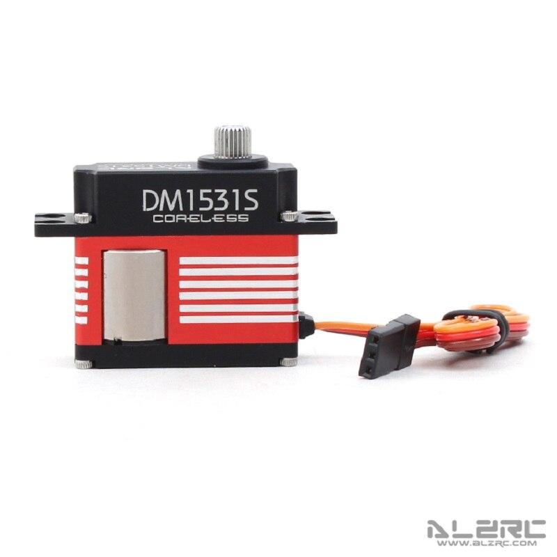 ALZRC DM1531S sans noyau CCPM moyen numérique métal Servo tout CNC en aluminium avec engrenage en métal FUT JR Propo Plug pour hélicoptère RC jouet