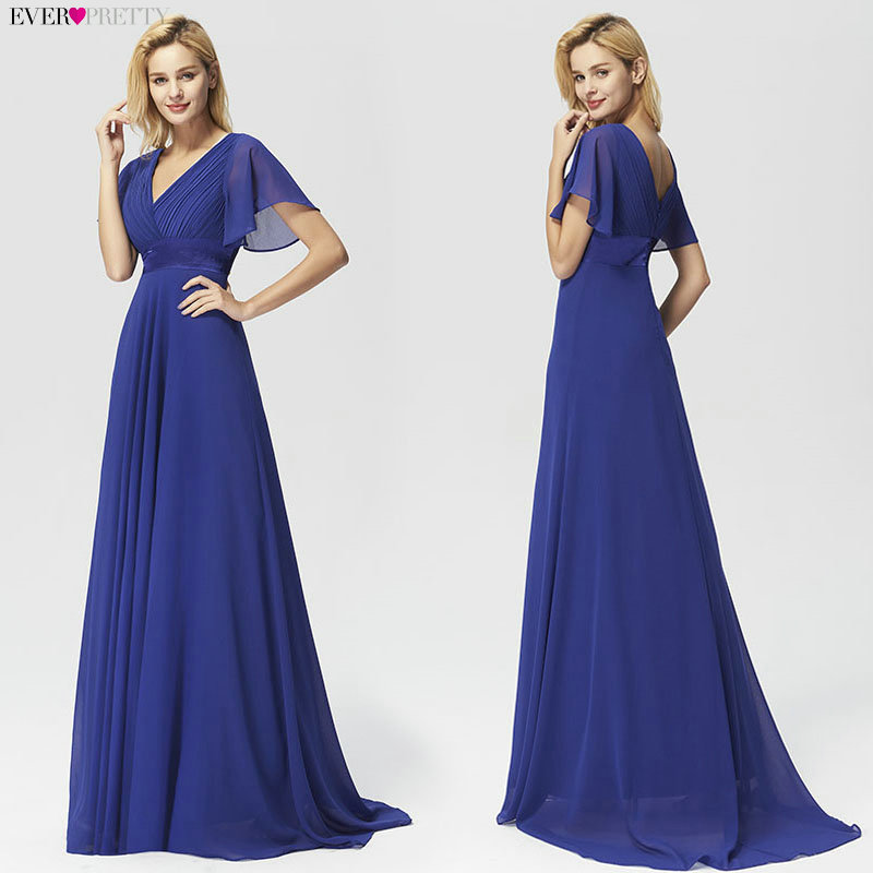 Image 3 - Evening Dresses EP09890 Padded Trailing Flutter Sleeve Long Women Gown 2019 New Chiffon Summer Style Special Occasion Dresses-in Evening Dresses from Weddings & Events