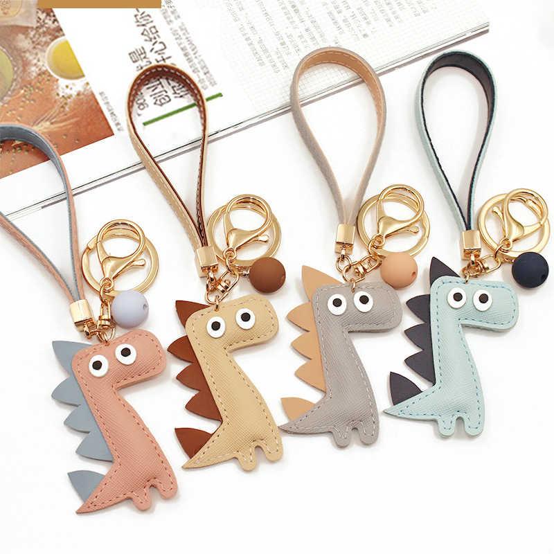 Милый мультфильм животных плюшевая игрушка брелок рюкзак брелок для ключей динозавр маленький подарок пара 18 см подарок Креативный заполненный хлопок PU 2019