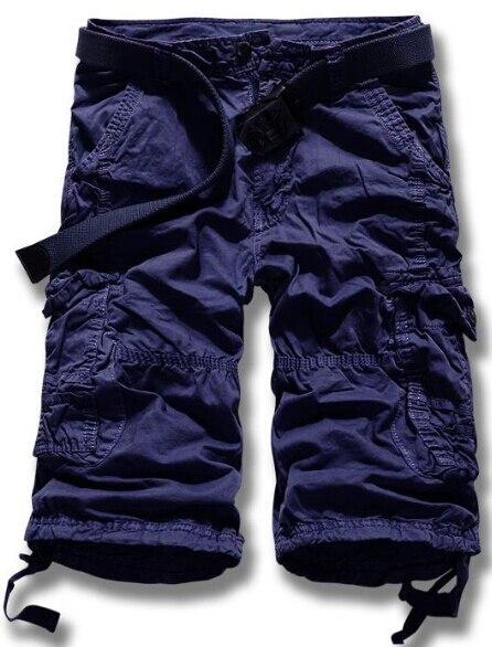 Горячие Летняя распродажа Для мужчин армия грузов работы Повседневное бермуды Шорты для женщин Для мужчин модные штаны хлопок Шорты для женщин - Цвет: Navy blue