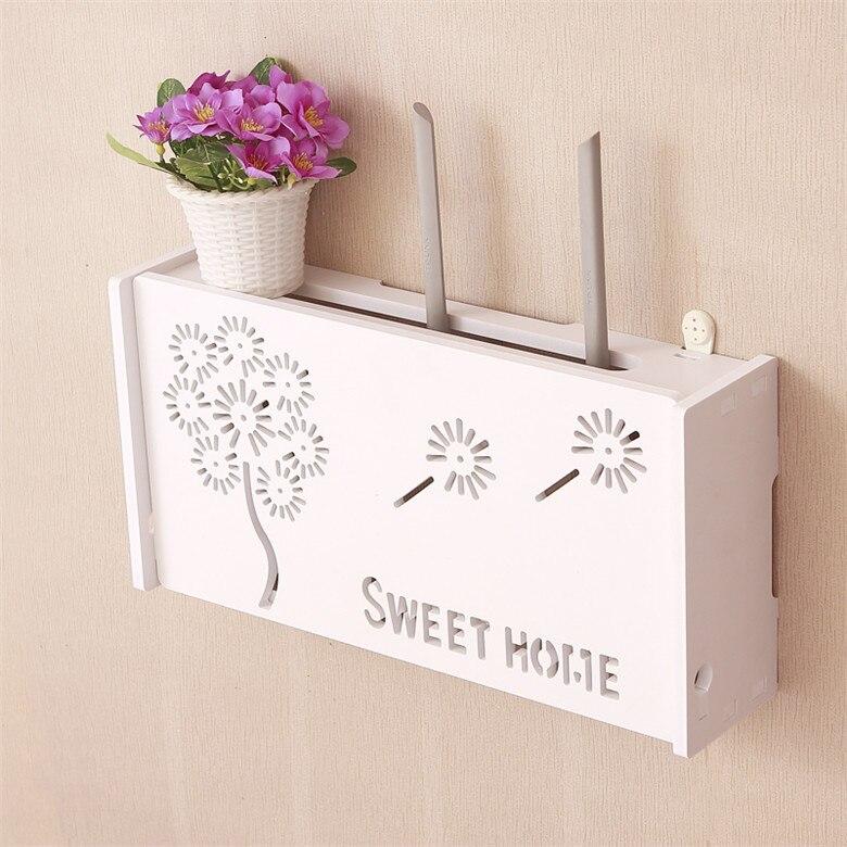 Simple moderne sans fil routeur boîte murale WiFi lumière boîte de rangement STB chat décoratif bloc étagère mur décor