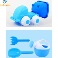 LeadingStar 4pcs Baby Summer Beach Sand Toy Basics Including Sand Truck Watering Can Rake And Shovel