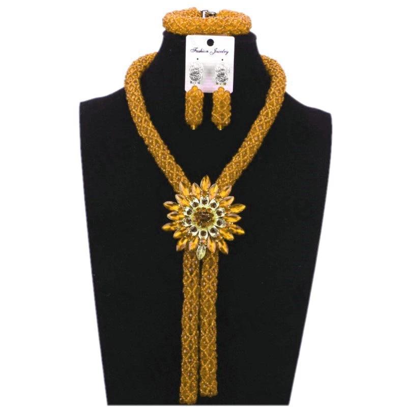 N-040 Kente Print Necklace set