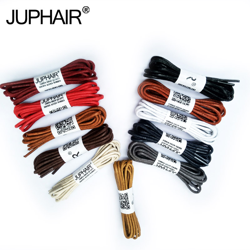 JUP 12 Pair Round LaceS 60-180cm Casual Leather High Quality Waxed Shoelaces Boot Sports Cable Rope Oxford Sneaker Unisex String jup 50 pairs round laces 60 180cm casual leather high quality waxed shoelaces boot sport cable rope oxford sneaker unisex string