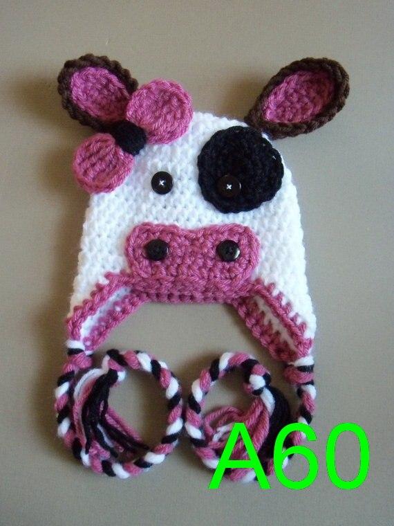 10pcs LOT Crochet Cow Hat  228b876bc7b