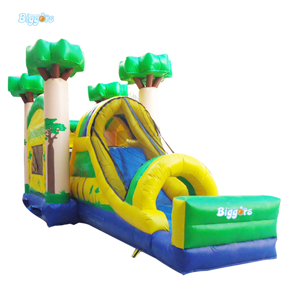 Cheap Jungle Inflatable Bouncing Castles Combo with Slide for Adults jungle commercial inflatable slide with water pool for adults and kids