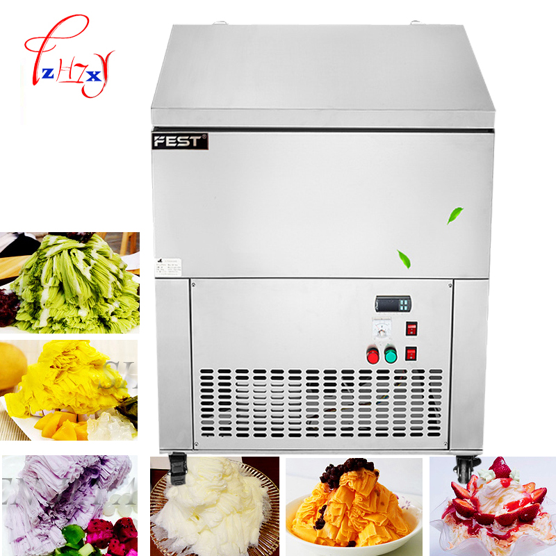 Commercial snowflake ice machine Automatic ice Maker, stainless steel flakes machine for sale Snowflake ice maker machine 1pc stainless steel automatic egg roll machine for sale