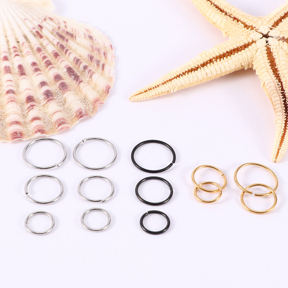 Thin Small Surgical Stainless Nose Ring Hoop Cartilage Piercing Jewelry 6//8//10mm