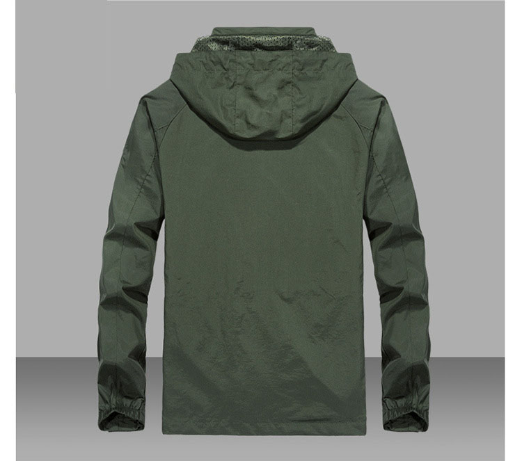 Image 3 - 6XL Men's Waterproof Military Jacket Autumn Men Casual Windbreaker Jackets Mens Breathable Hooded Outdoor Coats Clothes ,GA363-in Jackets from Men's Clothing