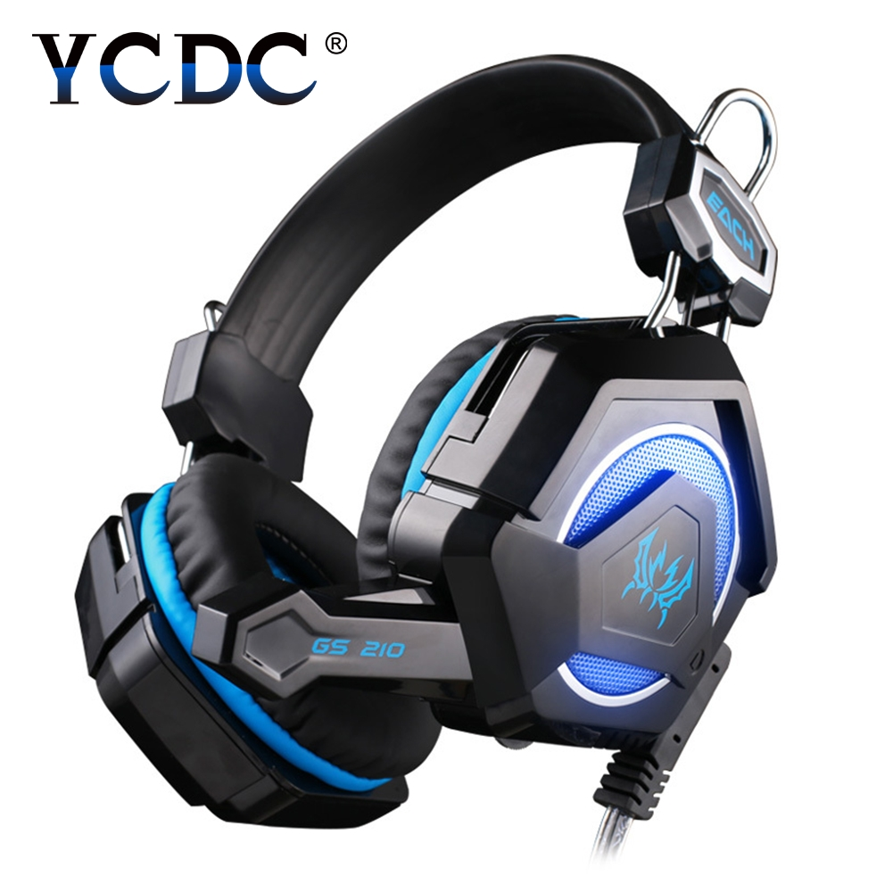 YCDC GS210 Colorful LED PC Gaming Headphone Headset Gamer Casque audio With Mic Stereo Fone De Ouvido Auriculares For PS4 Gamer