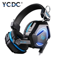 EACH GS210 Colorful LED PC Gaming Headphone Headset Gamer Casque Audio With Mic Stereo Fone De