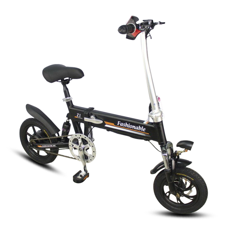 Excellent 14inch folding electric bike mini lithium battery bicycle Portable adult  powered motorcycles Two-disc brakes electric bicycle 2