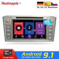 Android 9.1/9.0 Car DVD player GPS Navigation Multimedia Stereo For Toyota Avensis T25 2003 2008 Bluetooth Radio Audio Headunit