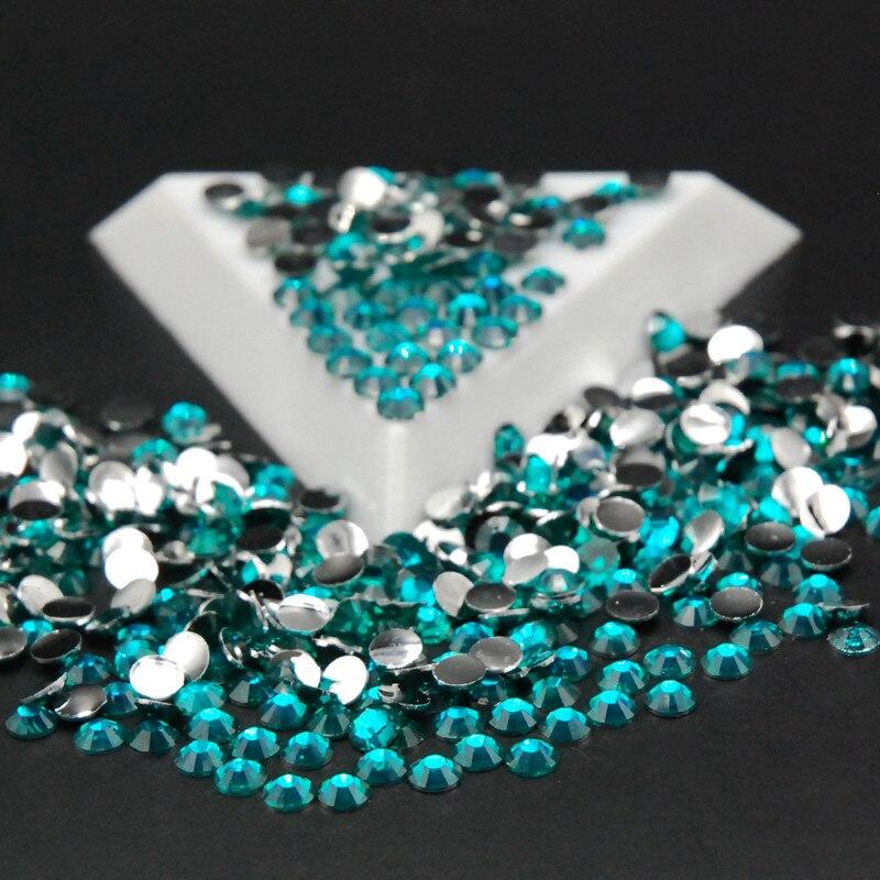 SS16 10000 шт./пакет плоской задней Акриловые стразы изумруд Цвет ногтей Стразы для платья decorationбесплатная 56617