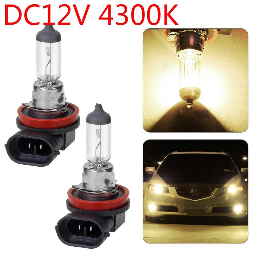 1Pcs H8 12V 35W 4300K Xenon Yellow Clear Car Headlight Bulb Fog Lamp Bulb Automobile Head Light Bulbs Auto Halogen Bulb