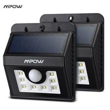 Mpow MSL6 2 Пакетов Всепогодный Солнечный Свет 8 LED Лампы Безопасности Датчик Движения Свет Лампы Сад с Тремя Интеллектуальные Режимы