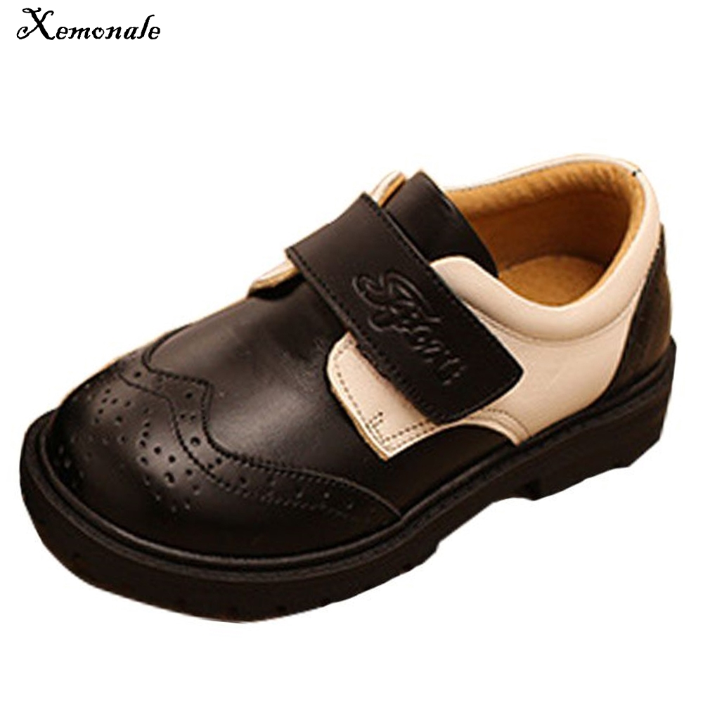Xemonale New Fashion Hotsale Shoes Spring And autumn Black Boy Genuine Leather British Performance Shoes Boy Girls Shoes