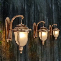 Modern outdoor outside wall light Vintage Pendant uminaire exterieur lamp for villa courtyard balcony garden corridor Decoration