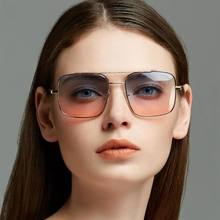 купить Fashion Sunglasses Women Brand Designer Square Vintage Sunglasses Men Metal Frame Sun Glasses Female New 2019 дешево