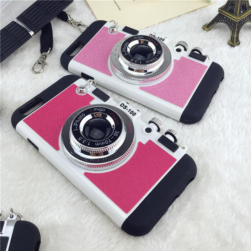 For iPhone 6 6S Case iPhone 6 Plus Cover Vpower Luxury Innovative Camera TPU PC Hybrid Phone Cases Cover For Apple iPhone 6 Plus in Fitted Cases from Cellphones Telecommunications