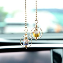 New Lucky Cat Car Pendant Cute Fashion Security Hanging Round Ornament car decoration