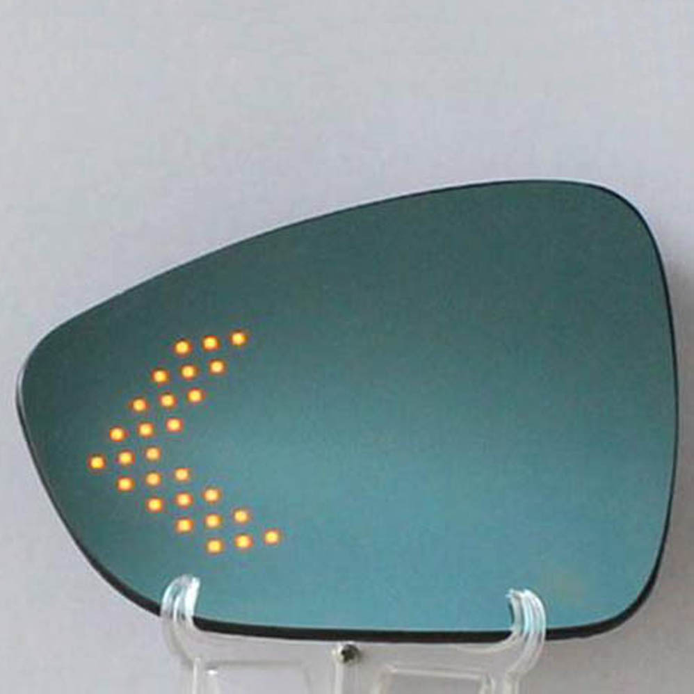 Multi-curvature blue wide angle led arrow turn signal heat defog out side door rear view <font><b>mirror</b></font> for <font><b>peugeot</b></font> 508 <font><b>408</b></font> parts image
