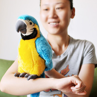 new plush simulation blue parrot toy plush macaw toy cute mara parrot toy gift about 26cm
