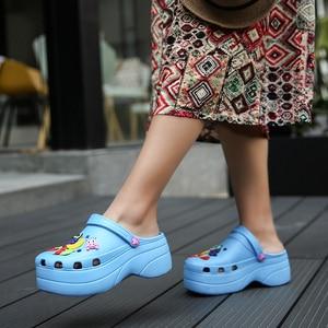 Image 3 - Candy Colors Women Sandals Clogs Mules Eva 2018 Summer Flip Flops Beach Garden Shoes Fashion Slippers Outdoor Chinelo Feminino