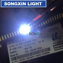 1000 pces para lúmens 7020 smd led grânulos 3v 0.5w 150ma branco fresco lcd backlight para aplicação tv SANE7020P 0W 2074