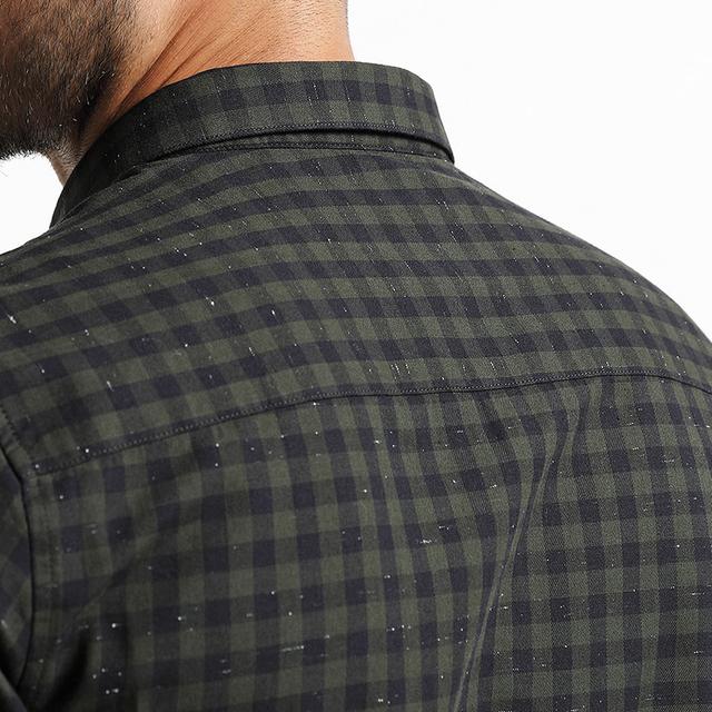 Men's Plaid Shirts Long Sleeve 100% Pure Cotton Slim Fit