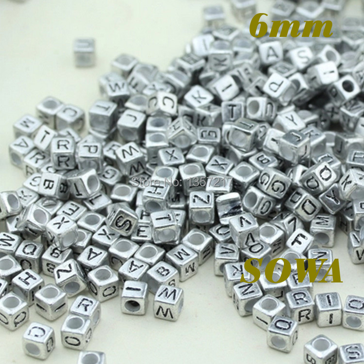 Бесплатная доставка 6*6 мм 100 шт./лот Смешанные Алфавит/Письмо Акриловые Cube Бусины для DIY Loom резинками браслеты с подвесками
