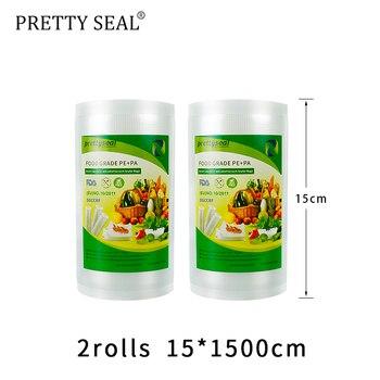 PRETTYSAL stretch film envasadora al vacío bolsas de BPA libre 15*15 m...