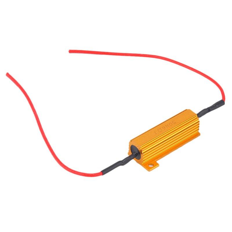 4pcs 50W 6Ohm Car LED DRL Fog Turn Singal Load Resistor for Fix LED Bulb Fast Hyper Flash Hot Selling