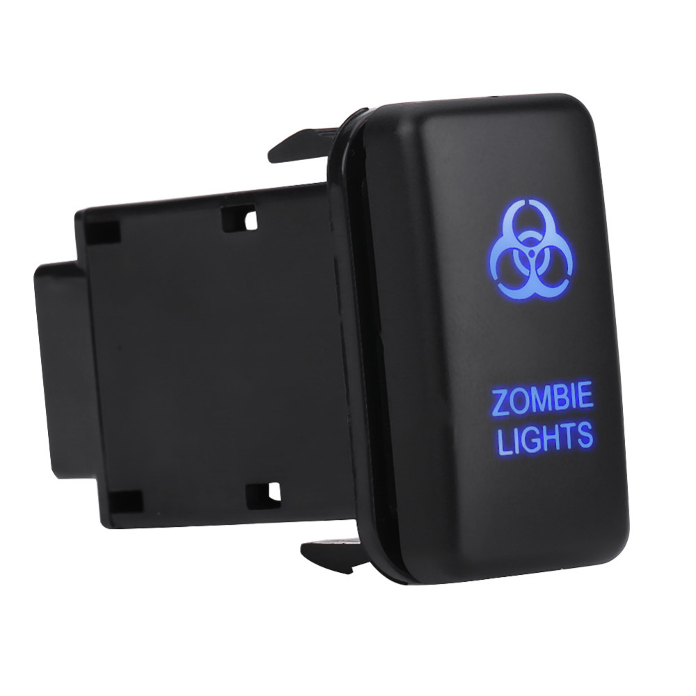 12v Blue Led Auto On Off Rocker Toggle Switch For Toyota