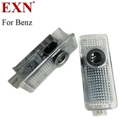 2x Wireless Car Logo Door Decoration Light Ghost Shadow LED Welcome Laser Projector Lamp For Benz
