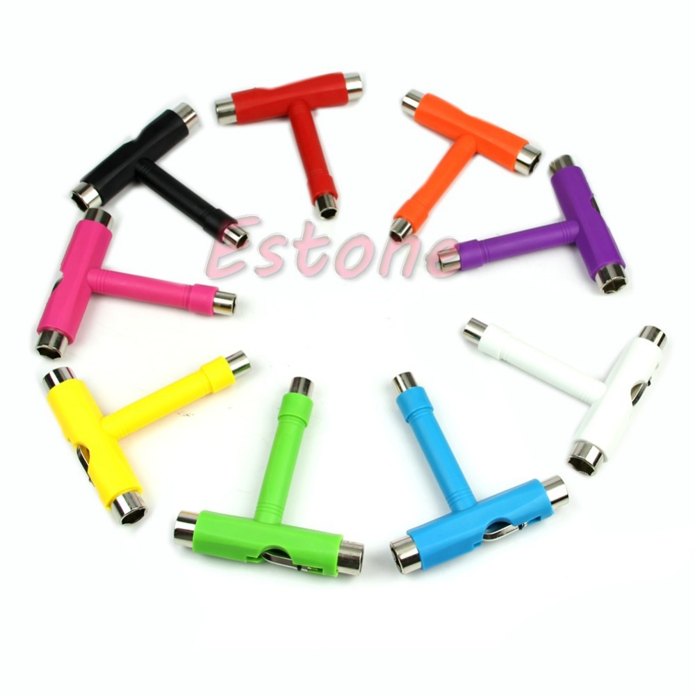 1 Pc Mini T Typ Rollschuh Skateboard Anpassung Werkzeug L Wrench Neue Zufällige Farbe Hand Werkzeuge