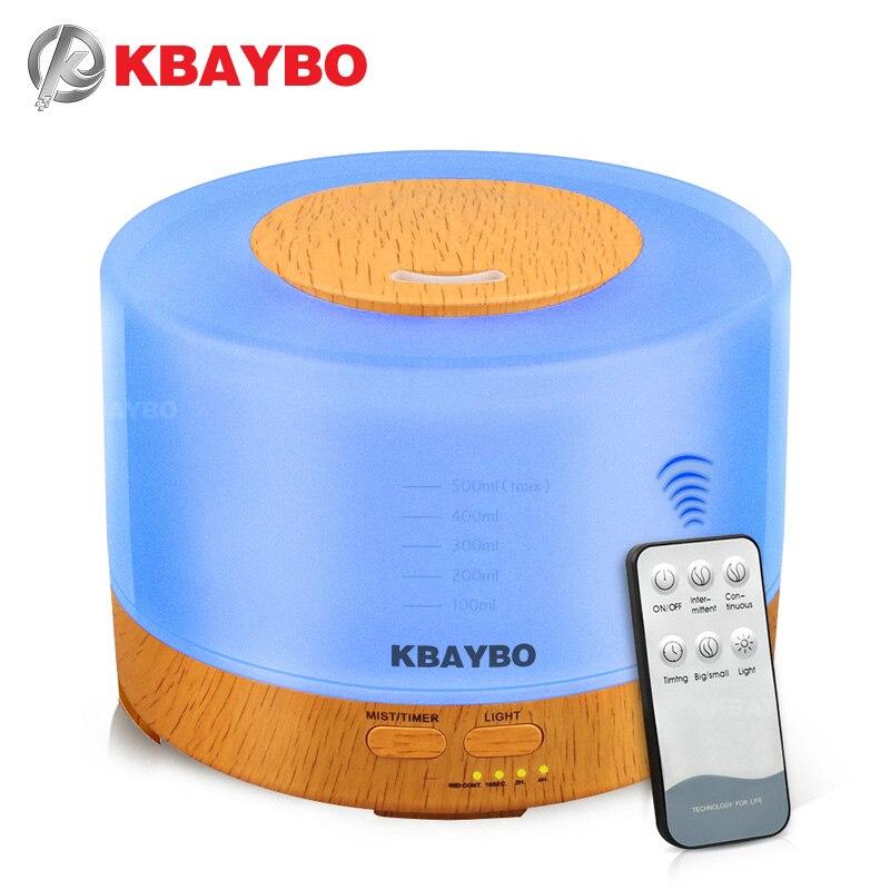 KABYBO 500 ml Umidificador Aroma Difusor Óleo Essencial com 4 Definições Do Temporizador de Controle Remoto 7 Mudando de Cor LEVOU lâmpada