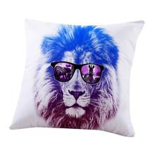 45cm*45cm Fashion Animal Pattern Pillow Case Home Sofa Waist Throw Cushion Cover Home Decor Pillow Cover Kissenbezug 18July11(China)