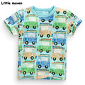 Little maven kids brand clothes 2017 summer baby boys clothes car print t shirt Cotton brand tee tops 50723
