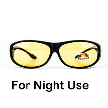 Night driving Polarized fitover fit over sunglasses block high beam light wear on prescription glasses