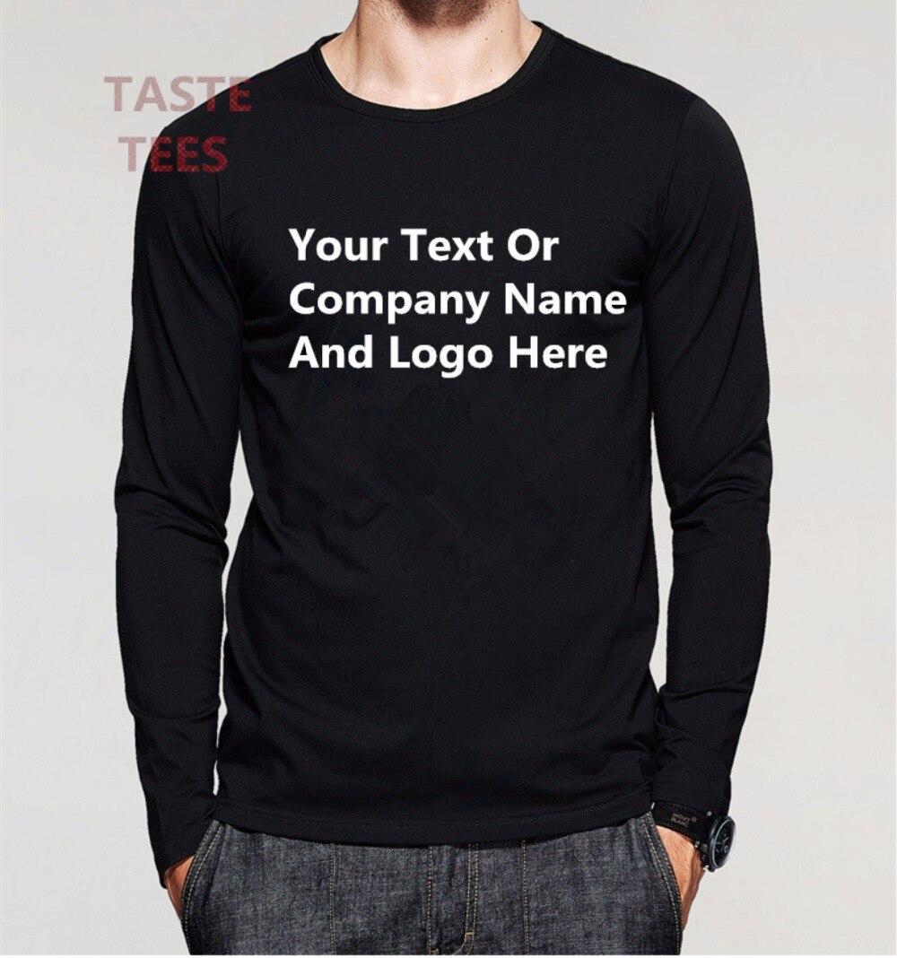 Fashion custom men long sleeve t shirt text logo cotton for Long sleeve t shirts design