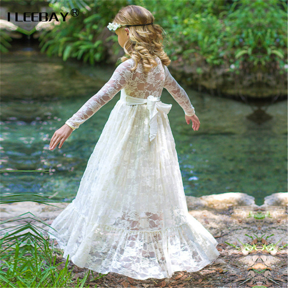 Kids Dress Big Bow Lace Princess for Girl Wedding Party Pageant Costume Big Girl Ball Gowns Teenager Flower Print Cute Vestidos new fashion embroidery flower big girls princess dress summer kids dresses for wedding and party baby girl lace dress cute bow