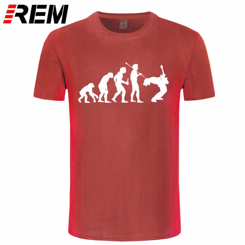 Funny Guitarist T Shirt Evolution Of a Guitarist Music Rock Guitar Musician Band Metal Mens T-shirt 31 Colors Unisex Cool Tees