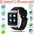 "Lemado q1 smart watch mtk6580 512 mb + 4 gb 1.54 ""tela Android 5.1 WiFi GPS 3G Bluetooth Smartwatch Suporte NANO Cartão Sim Do Telefone"
