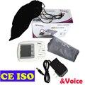Braço de Pressão Arterial Automático Medidor de Esfigmomanômetro Eletrônico Display LCD 90 Memórias com Adaptador de Energia com a Função de Voz